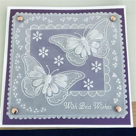 butterflies   parchment cards card patterns