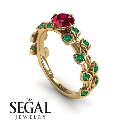 leaves all around ruby ring sydney no segal jewelry