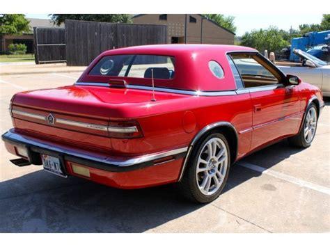 1989 Chrysler's Lebaron CoupeTC by Maserati Convertible ...
