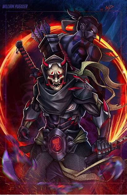 Genji Overwatch Oni Drawings Fanart Fan Deviantart