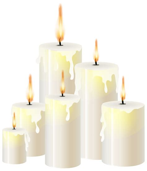 White Candles PNG Clip Art - Best WEB Clipart