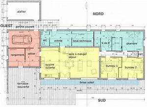 plan maison bioclimatique gratuit With plan de maison bioclimatique