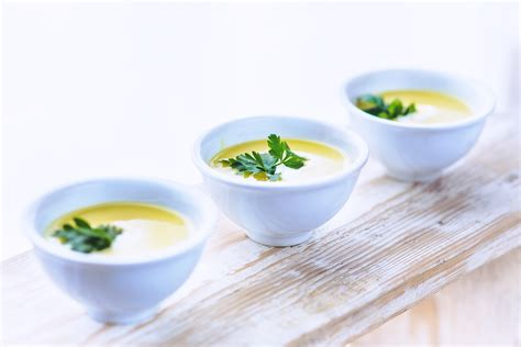 pic cuisine leek and potato soup with parsley free stock photo