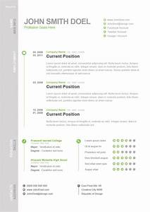 Awesome cv resume psd open resume templates for Awesome resume formats
