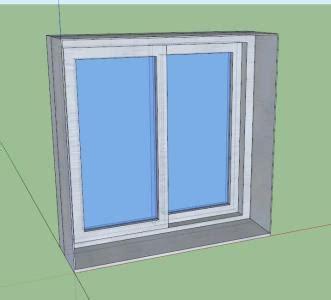 window aluminium double glass   kb bibliocad