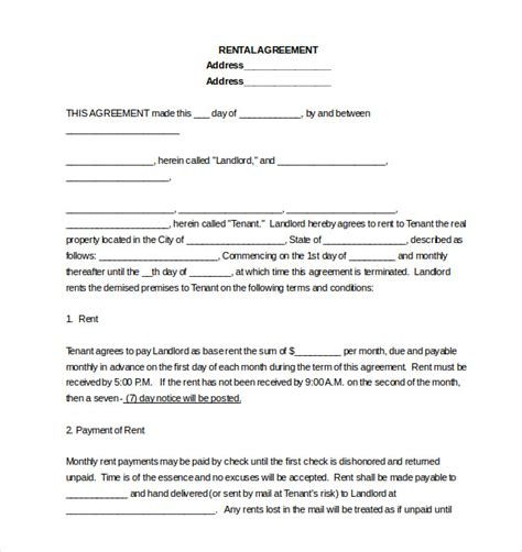 to own agreement create 10 lease agreement templates free sle exle Rent