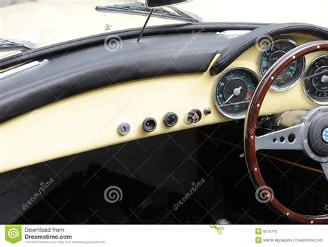 classic car interiors stock photo image