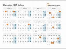 Feiertage 2018 Italien Kalender & Übersicht