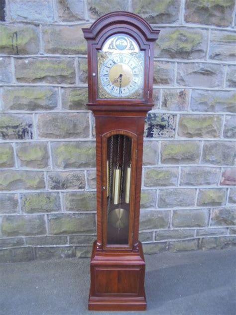 mahogany weight driven grandmother clock  wom