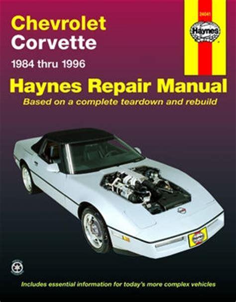 chilton car manuals free download 1984 chevrolet corvette transmission control 1984 1996 chevrolet corvette haynes repair manual
