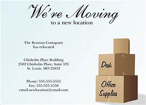 new location moving card company moving by cardsdirect With business moving postcards announcement