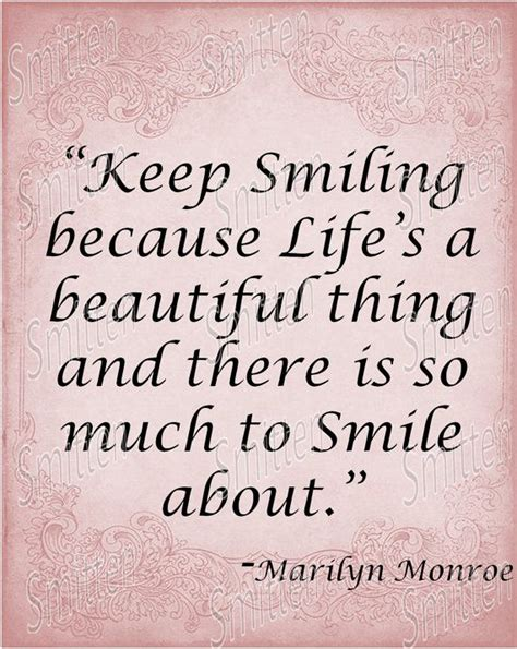 Smiling Quotes Marilyn Quotes About Marilyn Quote