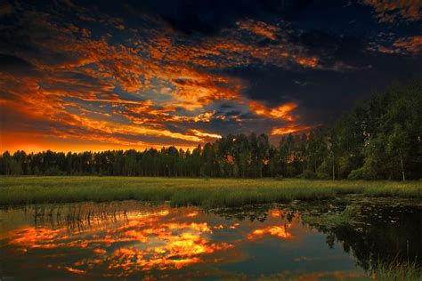 nature, Landscape, Trees, River, Clouds, Photography ...