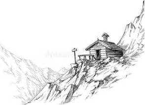 chalet house plans mountain hut sketch stock images image 22203374