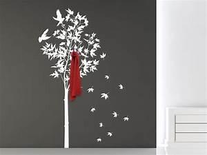 Baum Als Garderobe : wandtattoo garderobe herbstbaum mit v geln bei ~ Buech-reservation.com Haus und Dekorationen