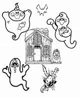 Coloring Ghost Halloween Pages Ghosts Printable Printables Addition Check Godzilla Fun Central sketch template