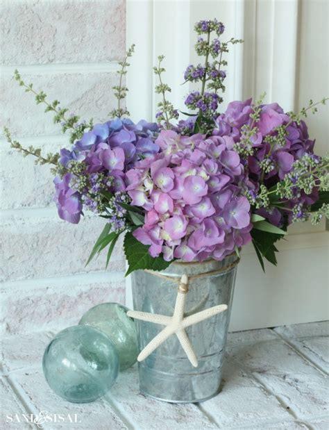hydrangea flower arrangement ideas hydrangea arrangement ideas sand and sisal