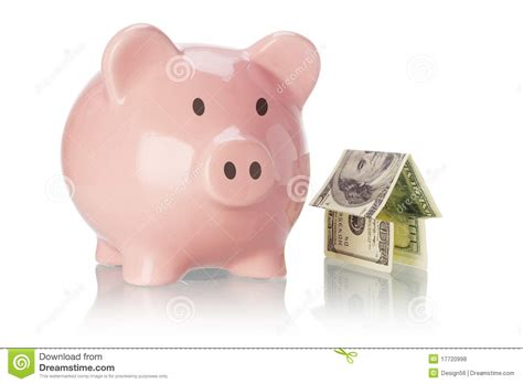 Piggy Bank And Money House Stock Photo. Image Of Object