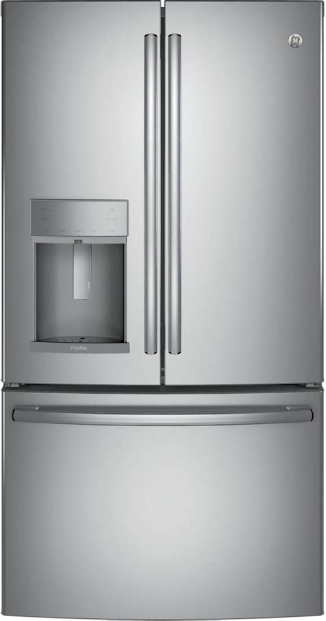 ge profile  cu ft stainless steel french door refrigerator pfdkslss dick van dyke