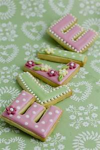 Pretty letter cookies cookies pinterest for Cookie letter press