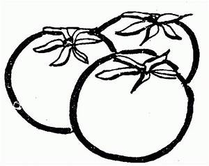 Tomato Clipart Black And White | Letters Example