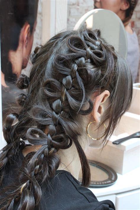 braid hairstyles    asians party hair fashion