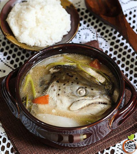 sinigang na ulo ng salmon salmon head  tamarind soup