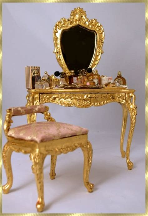 gold vanity table set french vanity ensemble