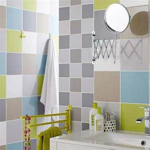 incroyable carrelage mural adhesif pour cuisine 6 With carrelage adhesif salle de bain avec tube a led