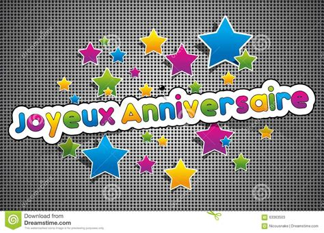 joyeux anniversaire happy birthday  french stock