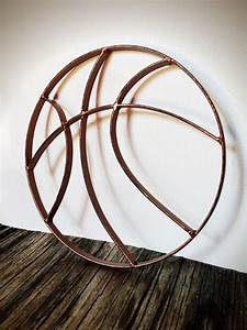 BOLD hammered copper finish basketball metal wall art