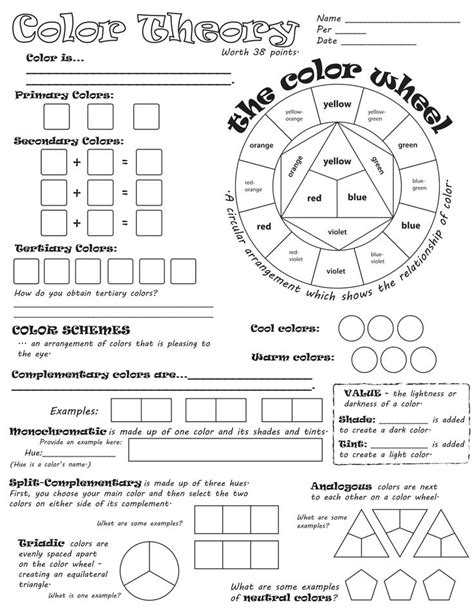 color theory worksheet best 25 color wheel worksheet ideas on what