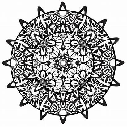 Mandala Coloring Pages Printable Psychedelic Adults Zentangle