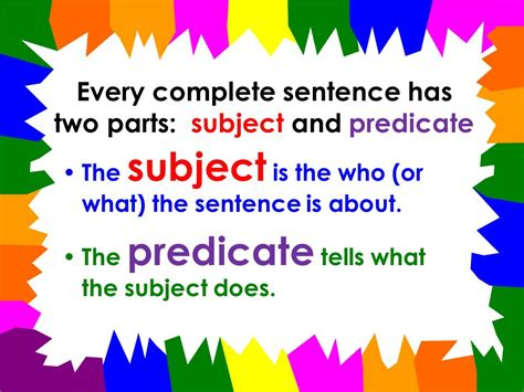 Language Arts With Mr Mcginty  Grammar What Makes A Sentence A Sentence?
