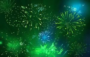 Green Fireworks wallpaper - 199387