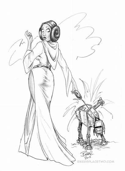 Leia Bikerbloke Deviantart Princess Walkies Drawings Fan