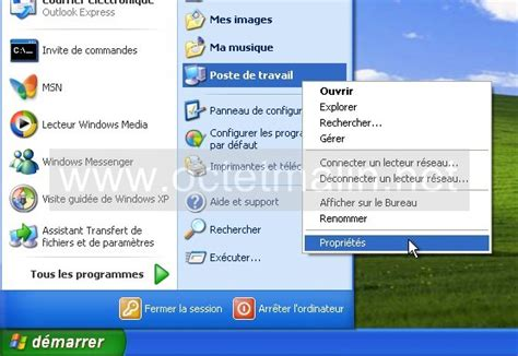 connexion bureau distance xp windows xp bureau à distance activer l 39 autorisation à