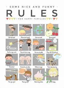 Affiche Les Regles De La Maison : affiche r gles de vie la maison pour enfants apanona ~ Melissatoandfro.com Idées de Décoration