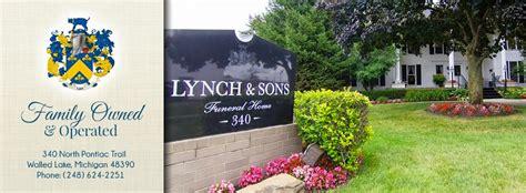 lynch sons funeral directors walled lake mi