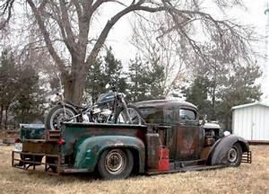 Chevy Rat Rod C40 Truck 350 Chopped Panhead Hauler