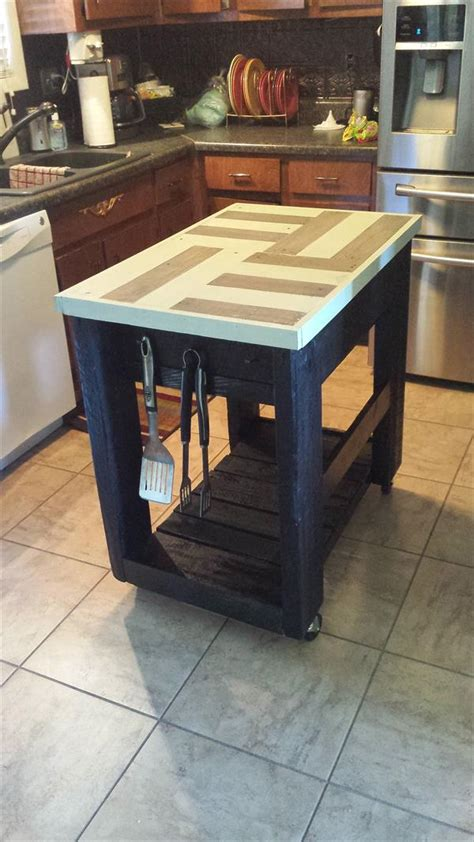 kitchen island made from pallets pallet kitchen furniture pallet idea 8198