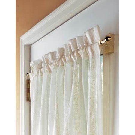 cafe curtain rods levolor magnetic cafe single curtain rod walmart