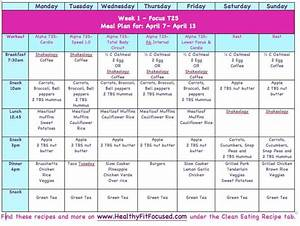 Meal Plans - Clean Eating Meal Plan T25 www ...