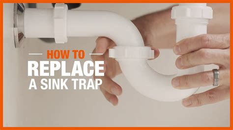 how to replace a sink trap plumbing the home depot