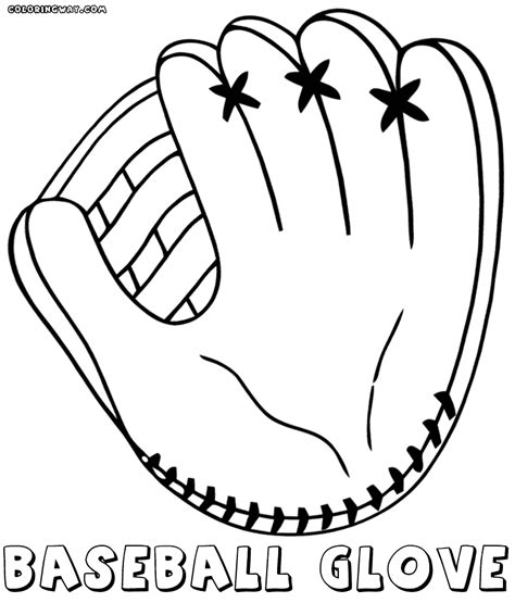 baseball glove coloring pages coloring pages