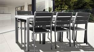 Chaise Exterieur Design : table et chaise de jardin aluminium table terrasse maison email ~ Teatrodelosmanantiales.com Idées de Décoration