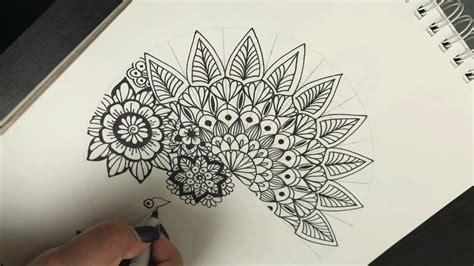 Como Hacer Una Mandala Simple Y Diferente  How To Draw Easy And Different Mandala  Shantal Art