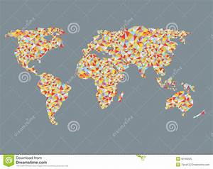 World Map Design With Abstract Pattern Stock Vector ...