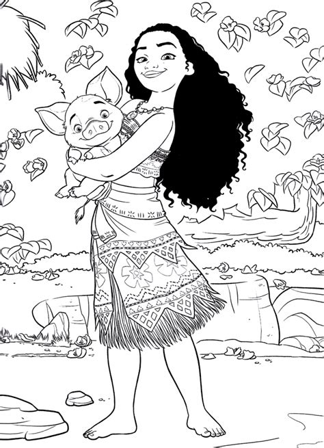 moana coloring pages  coloring pages  kids