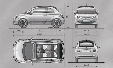 Fiat 500 Length by Fiat 500 Interior Dimensions Psoriasisguru
